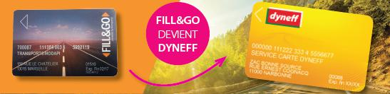 fill and go devient carte Dyneff